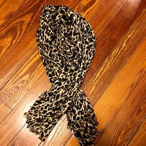 "Leopard Print Jcrew ""Tissue"" Scarf"